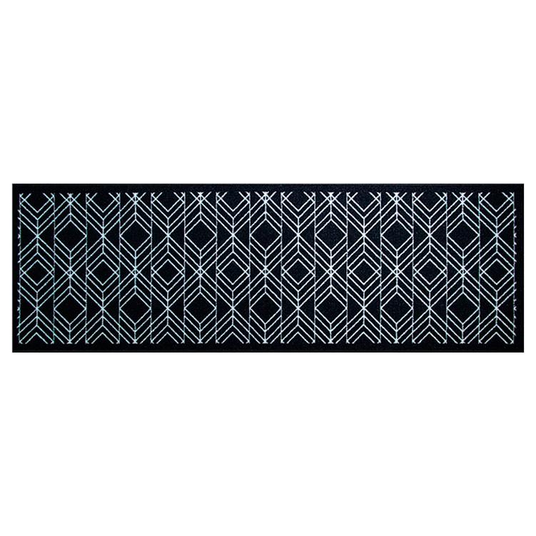 Passadeira Multiuso 150x50cm Geometrico Preto e Branco