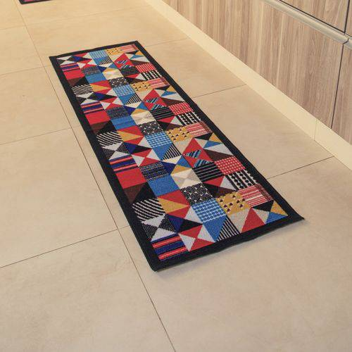 Passadeira Multiuso Gourmet 150x50cm  Patchwork  Colorful Bellacasa