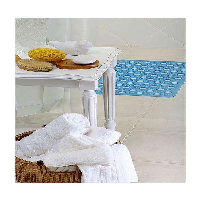 Tapete Box Banheiro Antiderrapante Azul Royal