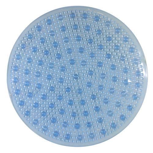 Tapete de Box Aqua-Spa Redondo Azul Cristal