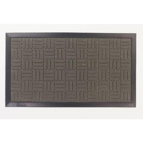 Tapete de Entrada Fenice 69X39 cm Cinza Liso