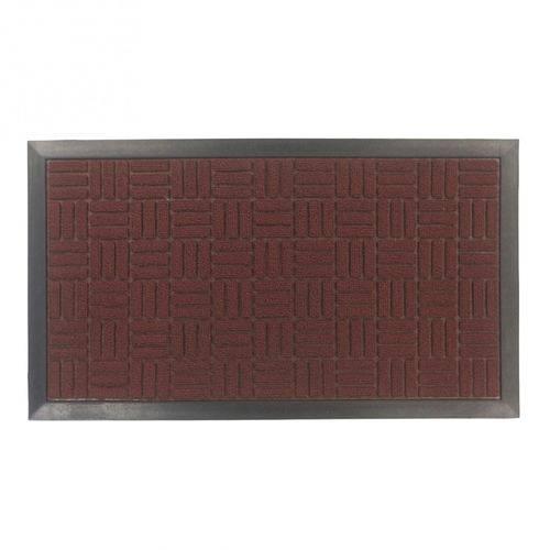Tapete de Entrada Fenice 69X39 cm Vermelho Liso
