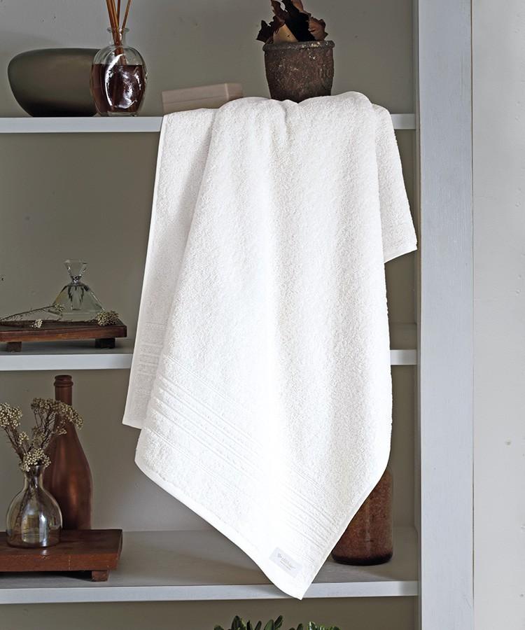 TOALHA BANHO FELPUDO JACQUARD RUBI Branco 90x150cm