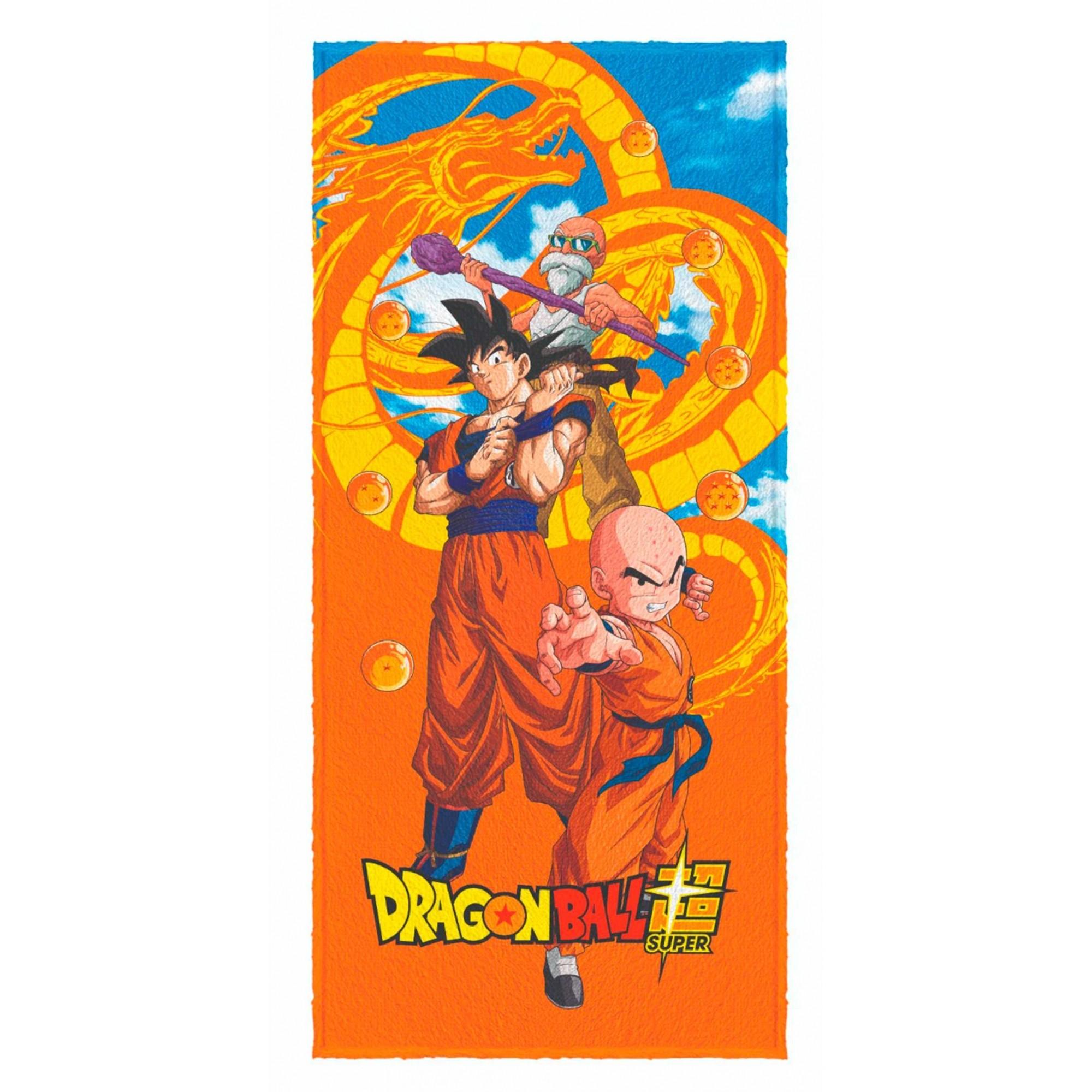 Toalha de banho Felpuda Dragon Ball Super Esfera do Dragão 60x120cm
