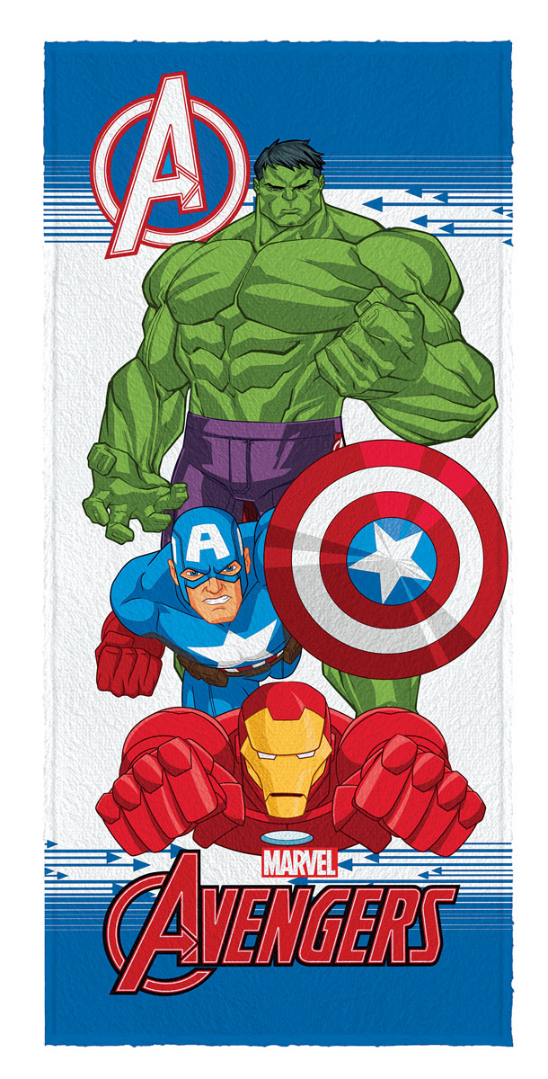 Toalha de Banho Felpuda infantil Avengers mod 1