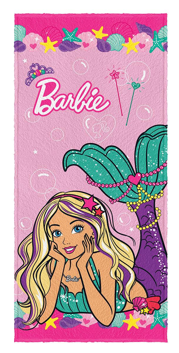 Toalha de Banho Felpuda infantil Barbie Reinos Magicos mod 2