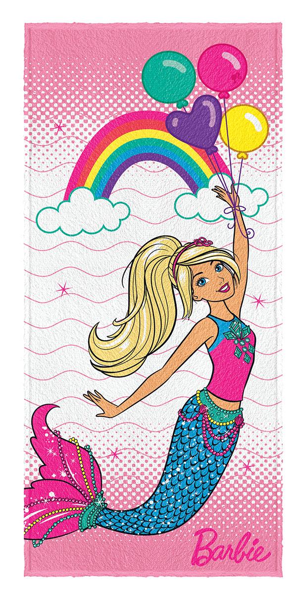 Toalha de Banho Felpuda infantil Barbie Reinos Magicos mod 5