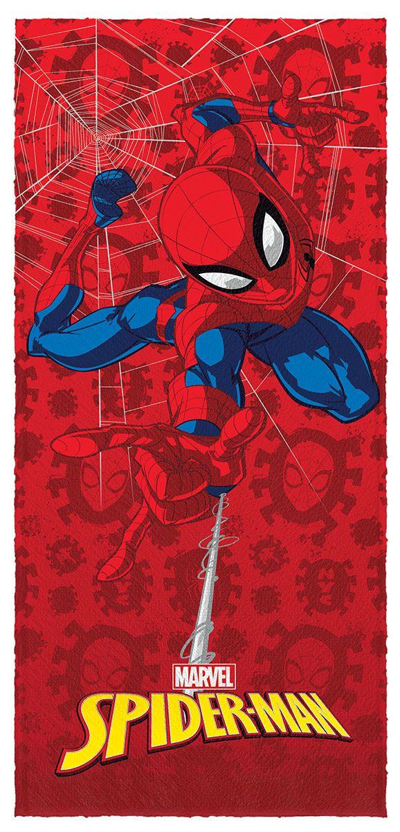 Toalha de Banho Felpuda Spider Man Lepper Mod 7