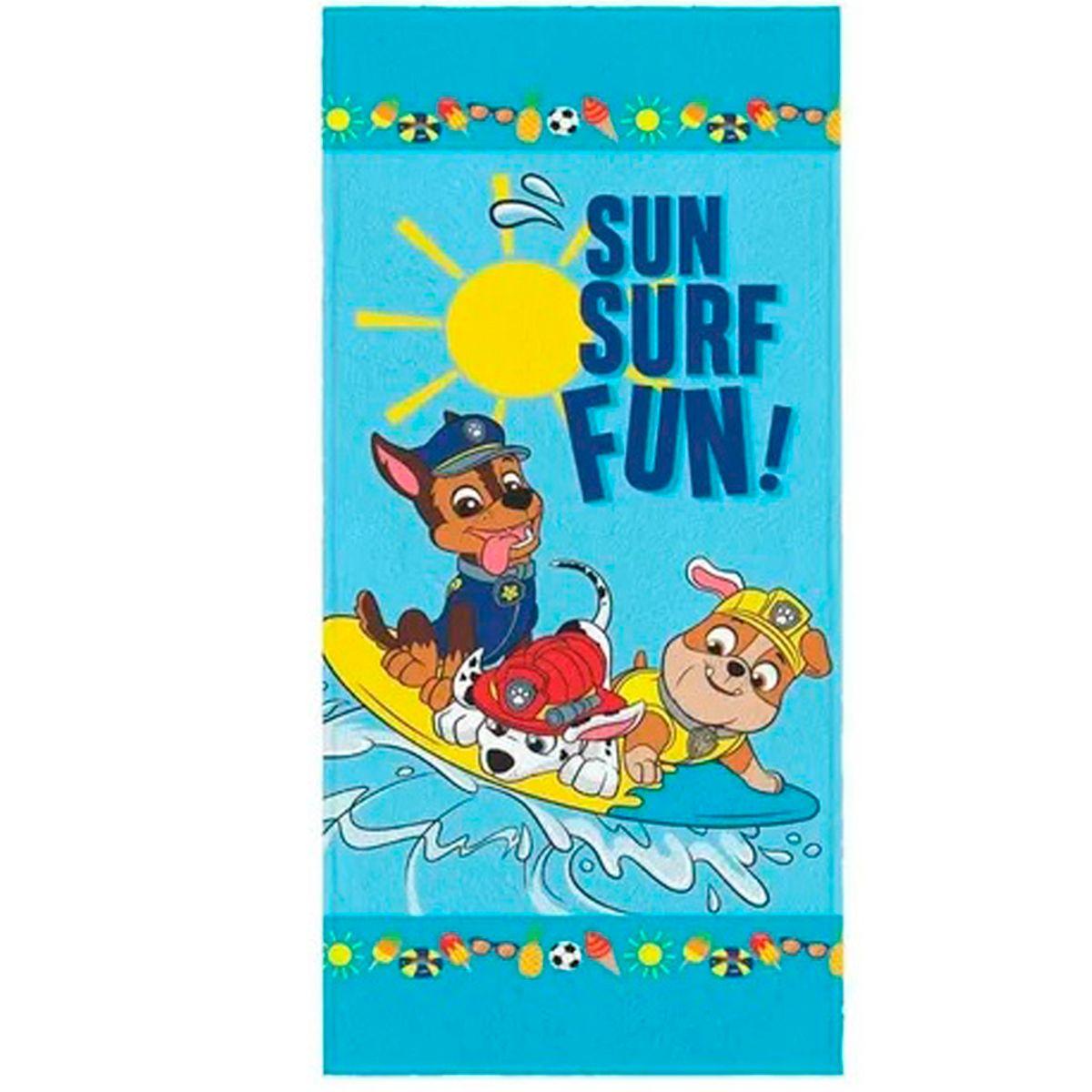 Toalha de Banho Infantil Felpuda Patrulha canina Sun Surf