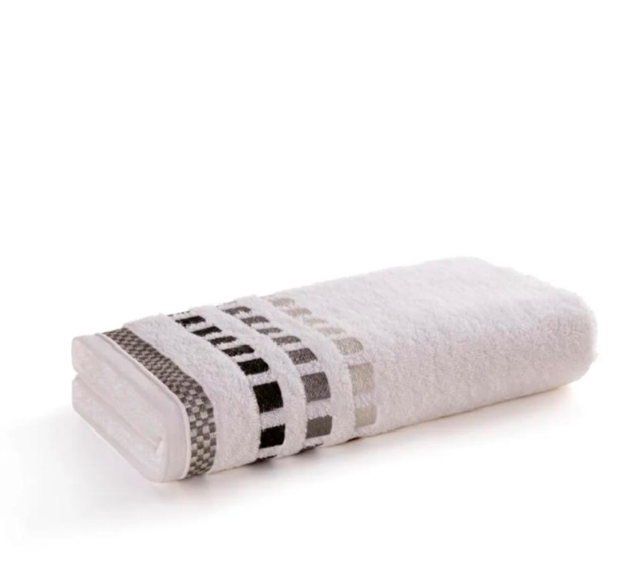 Toalha de Banho Karsten  Calera Branco/Cinza