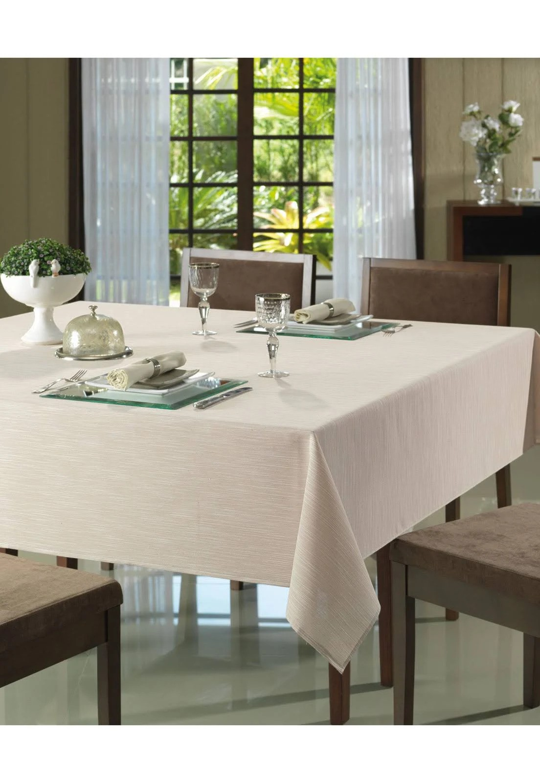 Toalha de mesa Clean Passion 160x160 - Bege