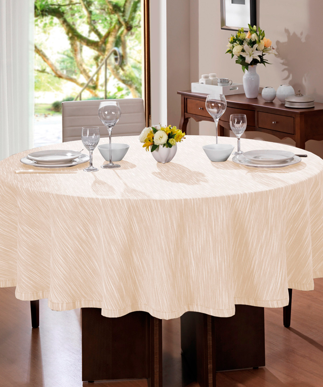 Toalha de mesa Clean Passion Redonda 200cm Bege