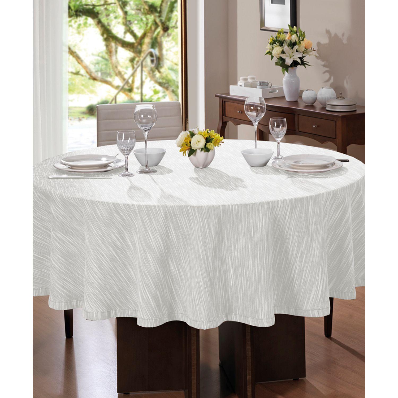 Toalha de mesa Clean Passion Redonda 200cm Pre-Alvejado
