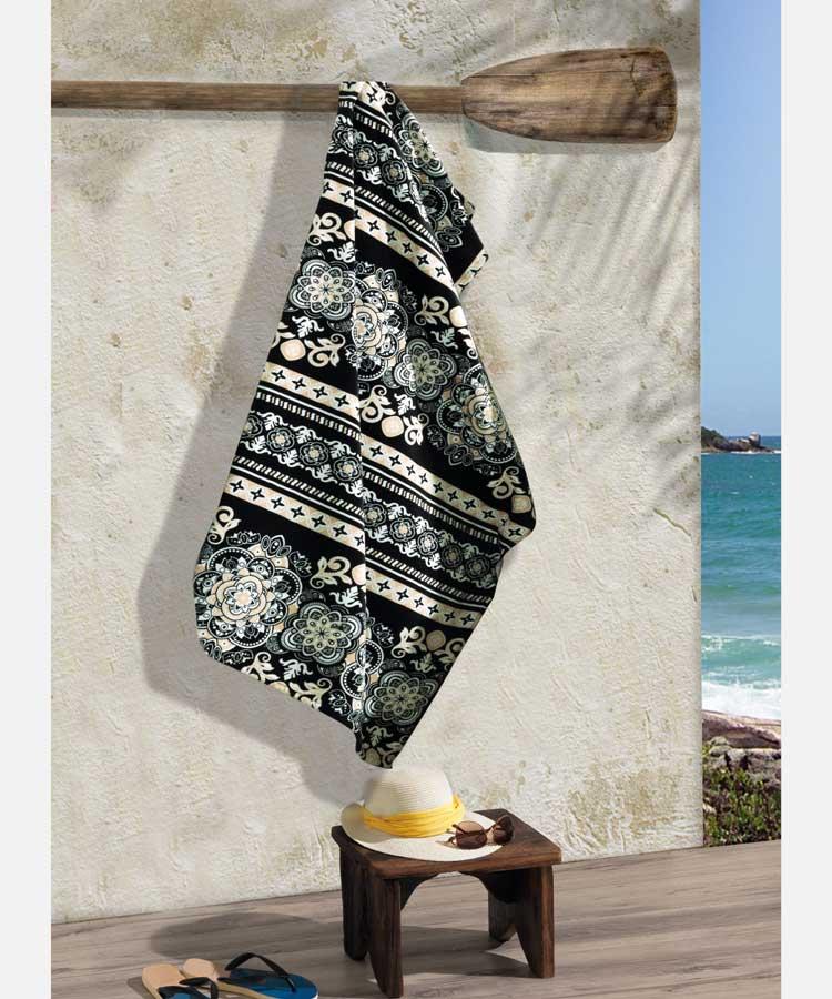 Toalha Praia Dohler Velour - Renda 01 - 86x162cm