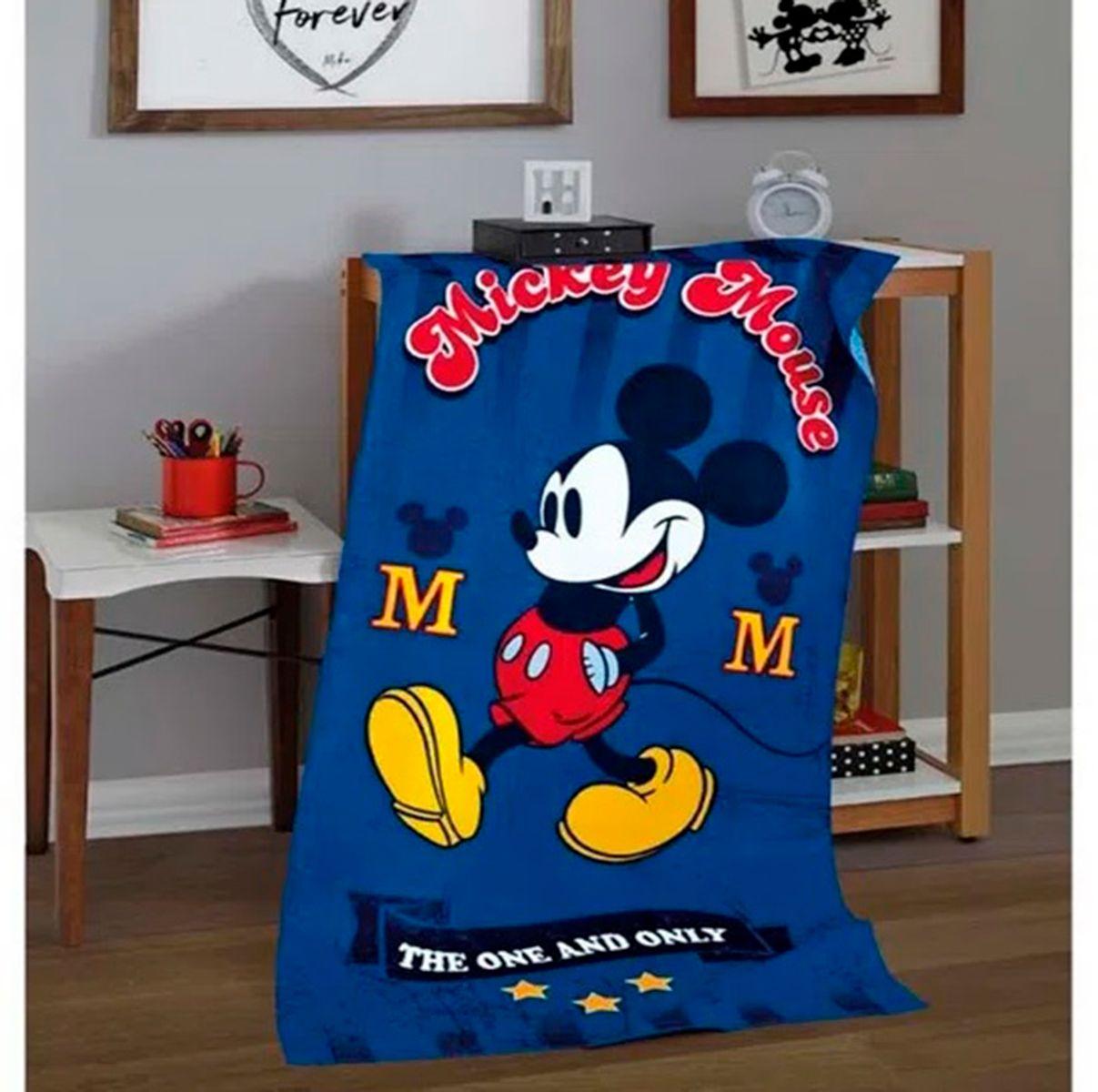 Toalha Praia Velour Estampado Mickey 03 76x152cm