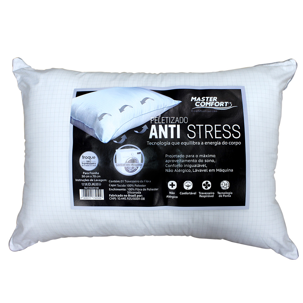 Travesseiro  50X70CM Peletizado Anti Stress Master Comfort
