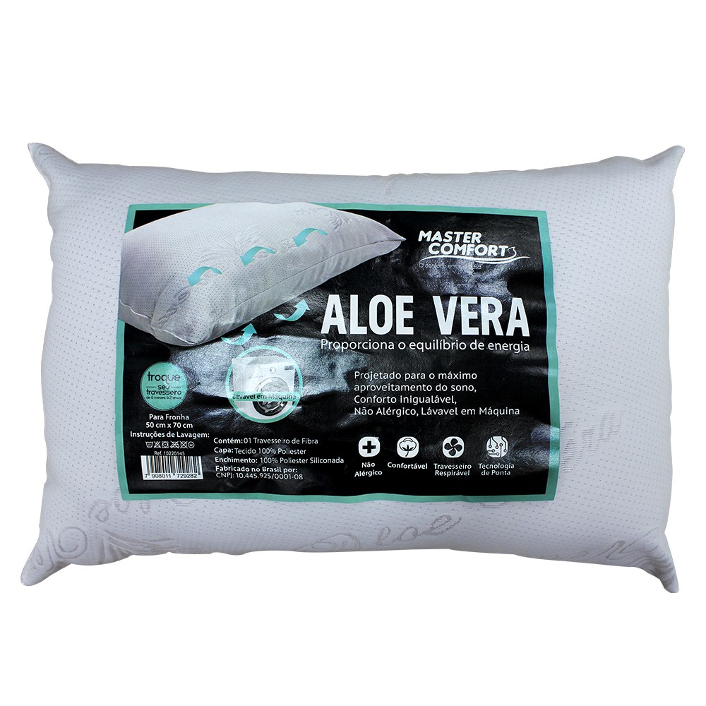 Travesseiro Aloe Vera 50x70Cm Master Comfort