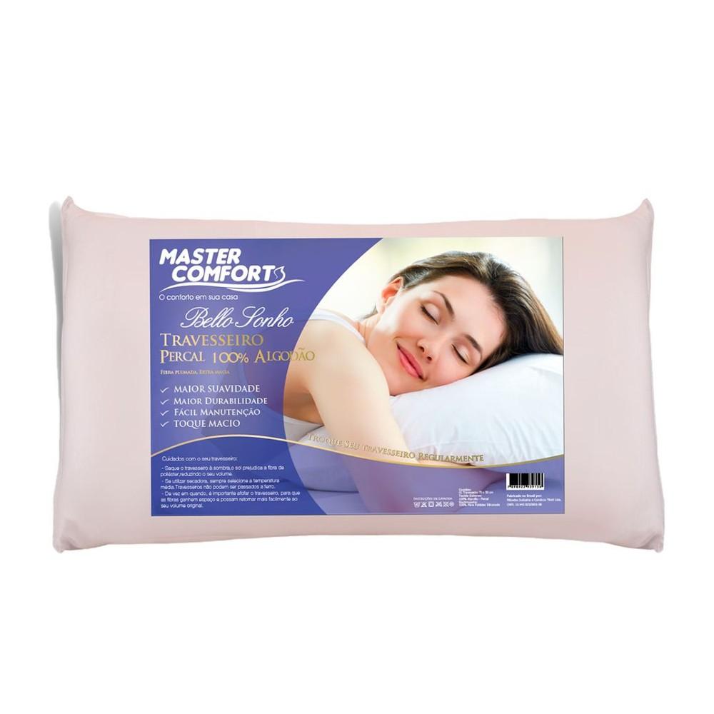 Travesseiro Fibra Percal 200 Fios Bello Sonho