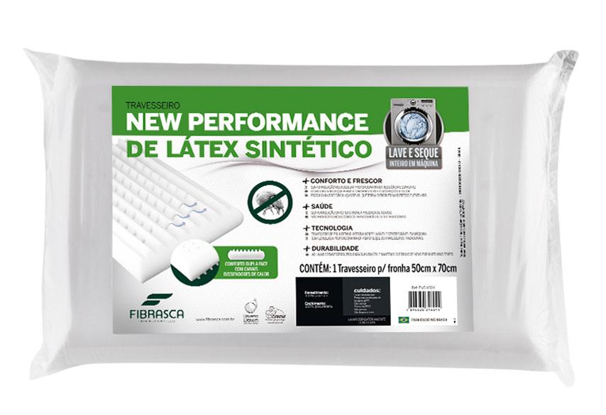Travesseiro Latex Plus Lavavel Sintetico Para Fronha 50x70