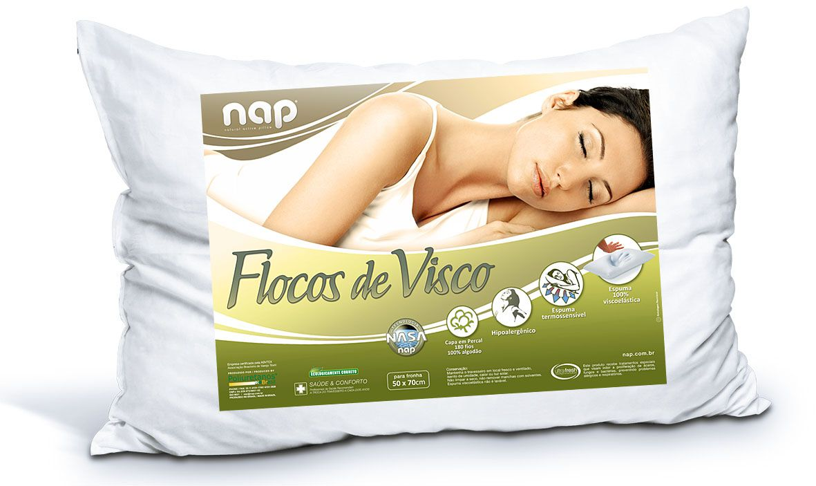 Travesseiro Nasa  Flocos De Visco Nap