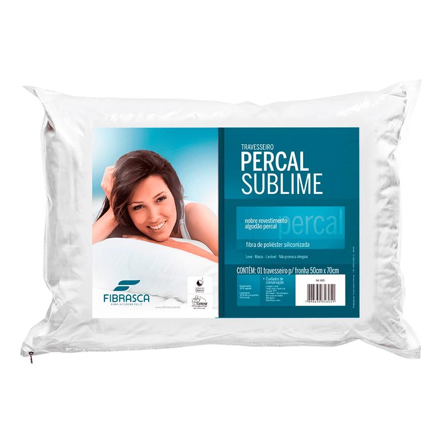 Travesseiro Percal Sublime 180 Fios Fibra Siliconizada