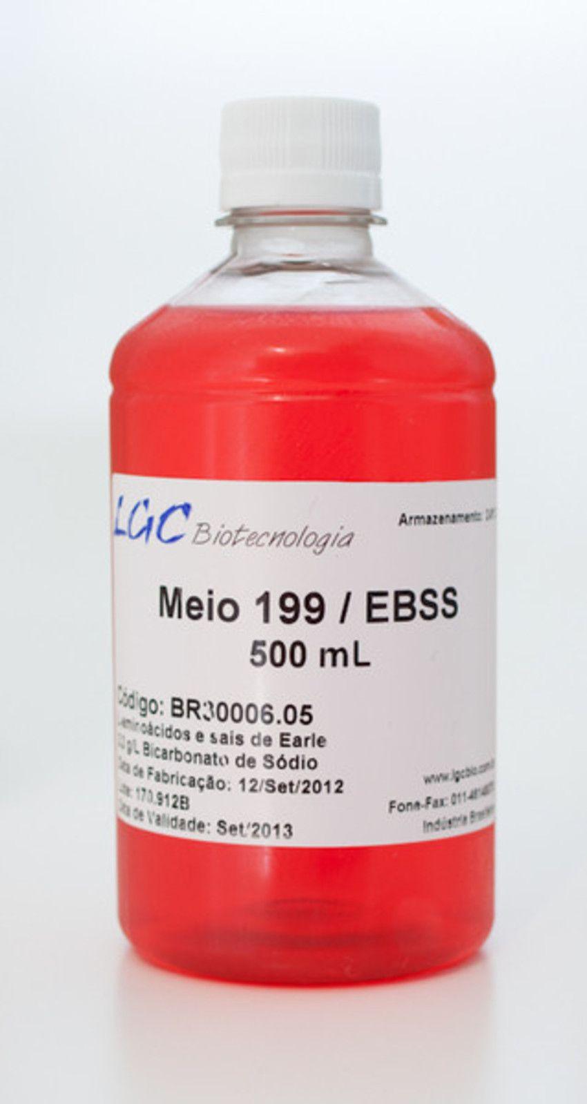 MEIO 199/EBSS, COM L-GLUTAMINA