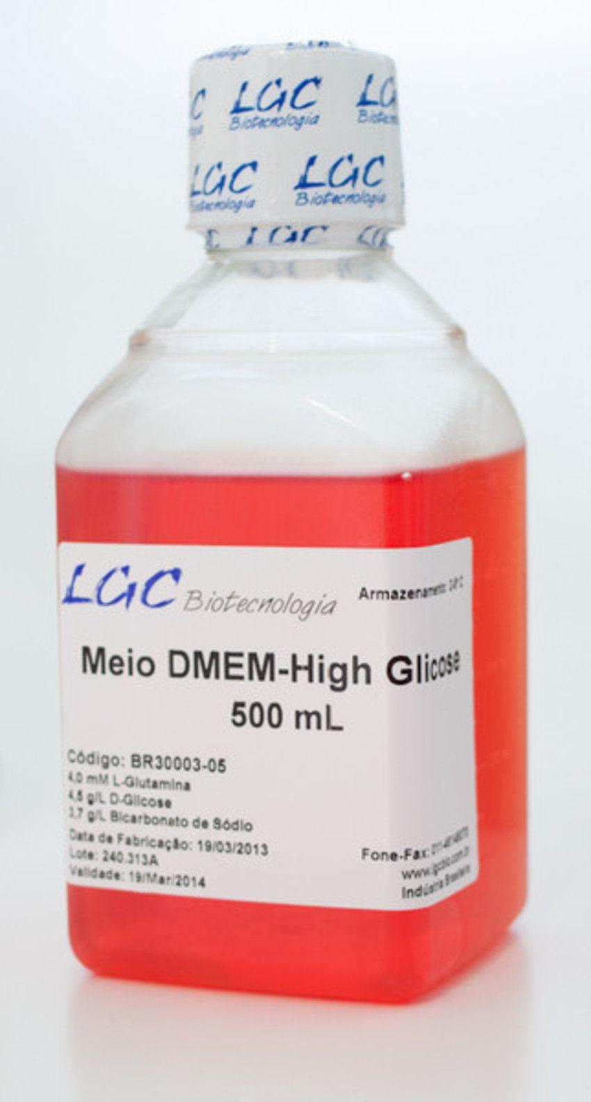 MEIO DMEM HIGH GLUCOSE (4,5G/L), SEM PIRUVATO E COM VERMELHO DE
