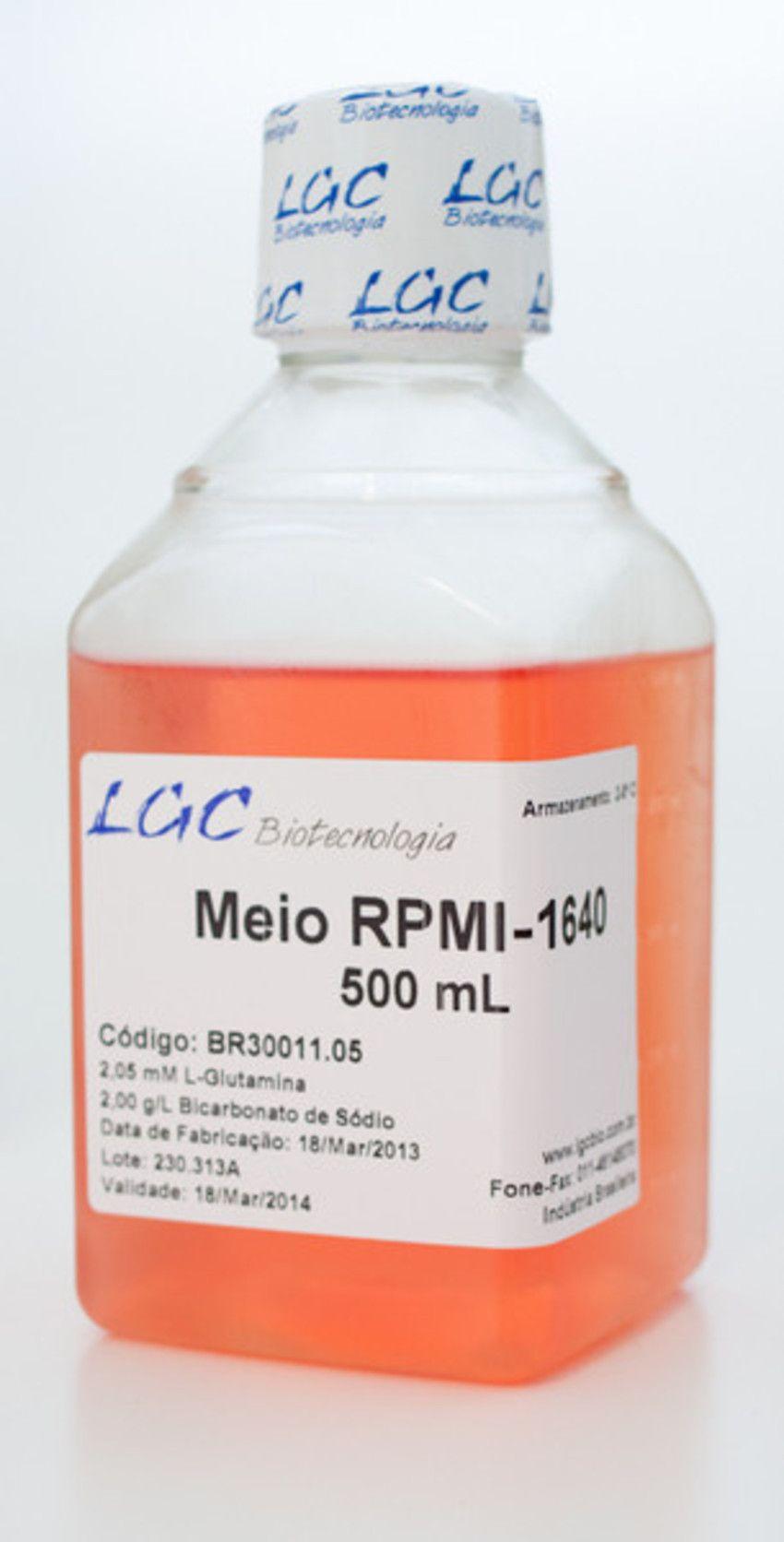 RPMI-1640 COM BICARBONATO DE SÓDIO E L-GLUTAMINA (2,05MM)