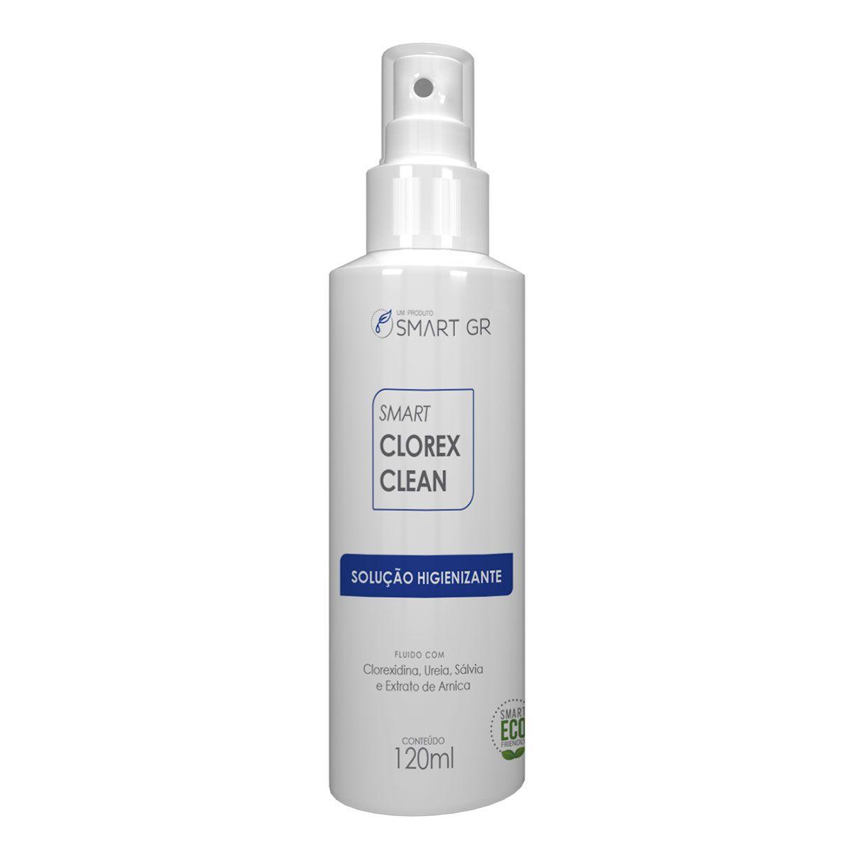 SMART CLOREX CLEAN - SOLUÇÃO HIGIENIZANTE COM CLOREXIDINA - 120 ML