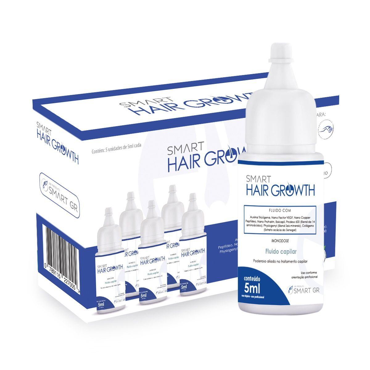 SMART HAIR GROWTH - TERAPIA CAPILAR - 5 MONODOSES DE 5 ML