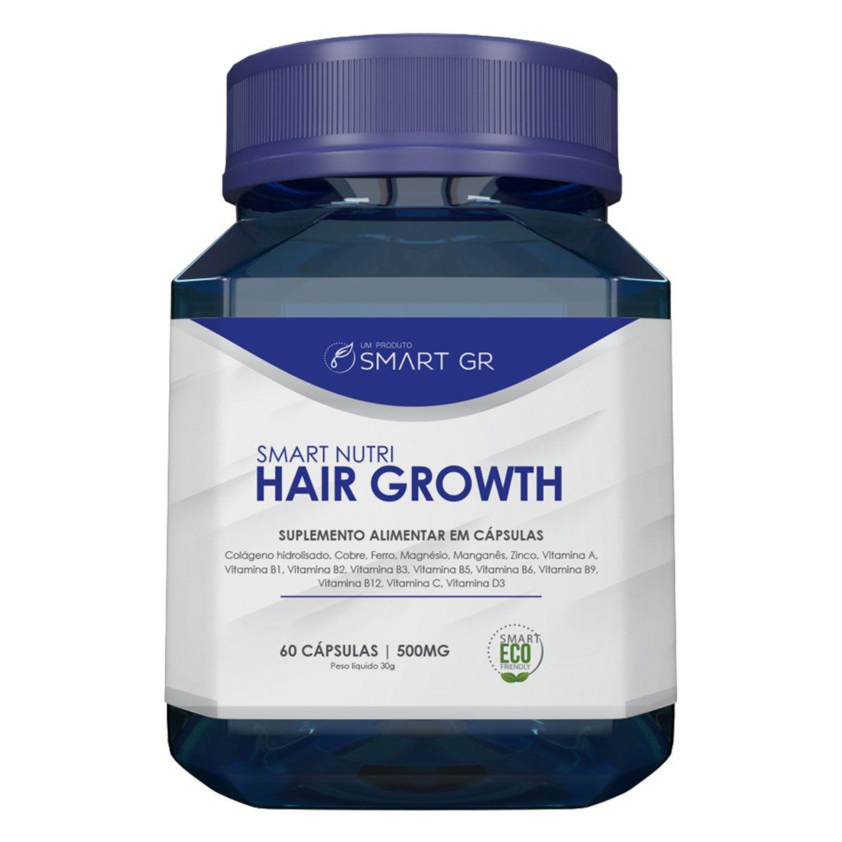 SMART NUTRI HAIR GROWTH - SUPLEMENTO ALIMENTAR EM CAPSULAS - CRESCIMENTO CAPILAR