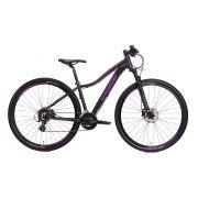 Bicicleta Aro 29 Oggi Float 5.0 27V Feminina 2019 Preto/Uva