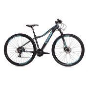 Bicicleta Aro 29 Oggi Float 5.0 27V Feminina 2019 Preto/Aqua