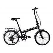Bicicleta Dobrável Aro 20 Elleven 6v Alumínio