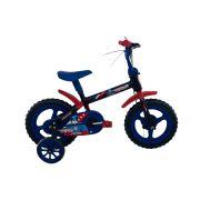 Bicicleta Infantil Aro 12 Menino Capitão América Azul