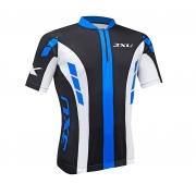 Camisa Ciclismo 3xU Prime Refactor Preto/azul/branco
