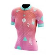 Camisa Ciclismo Refactor Feminino Rosa Forms Bike