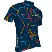 Camisa de Ciclismo Masculina Skin Azul