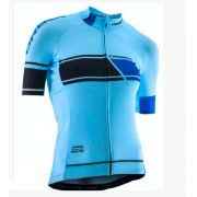 Camisa Feminina Azul Claro/Preto Ciclismo Orbea Tour de France