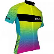 Camisa de Ciclismo Feminina Amarela Skin Vênus