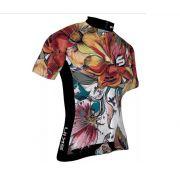 Camisa de ciclismo Feminina Skin Venus com Flores