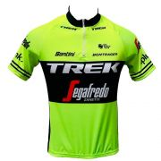 Camisa Trek Amarela/preta Ciclismo Ziper Curto Masculino