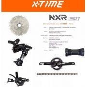 Conjunto Kit Transmissão para Bicicleta 11v Xtime Nxr S11 Completo