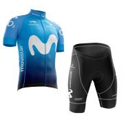 Conjunto Roupa de Ciclismo Masculina Wolrd Tour Movistar