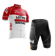 Conjunto Roupa de Ciclismo Masculina World Tour Lotto