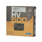 Corrente Ciclismo Fina Semi-Index HV500 6/7v 116 Links Cinza/Marrom KMC