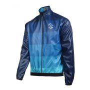 Jaqueta Impermeável para Ciclismo Bike Capa Chuva Skin Azul