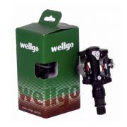 Pedal Clip Wellgo Alumínio com Taquinho