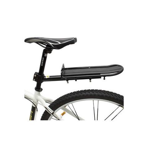 Bagageiro Bicicleta Alumínio Preto com regulagem