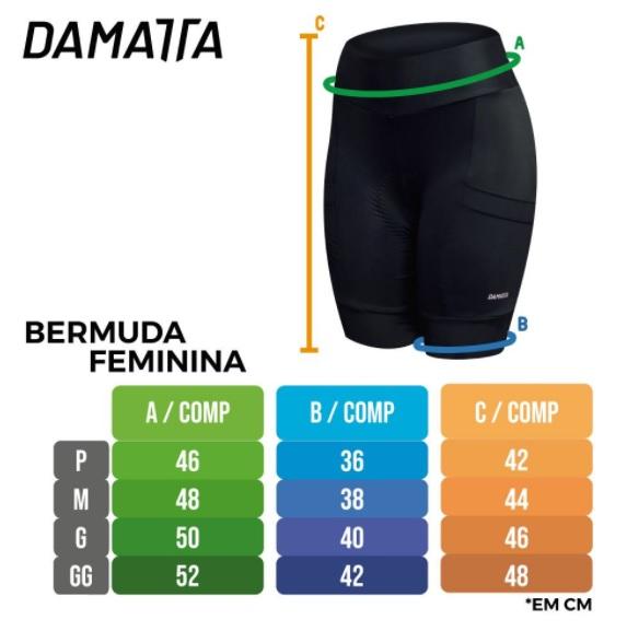 Bermuda Ciclismo Feminina Damatta Fun Forro Gel Proteção Uv 50
